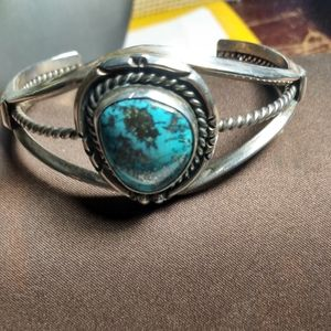 Sterling Silver Turquoise Native American Bracelet